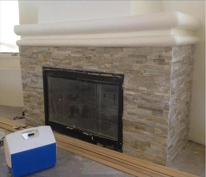 Remodeled fire place