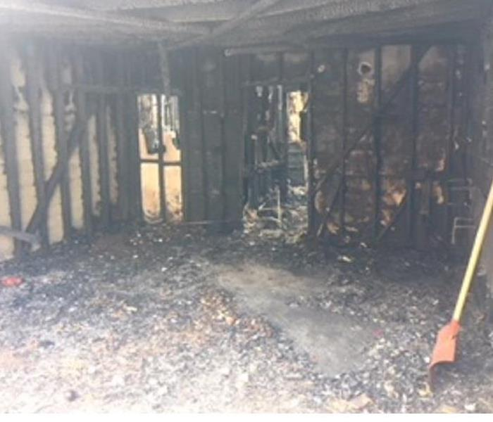 Burned room